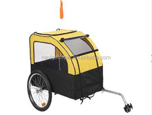 Yellow Bicycle Pet Trailer With Large Windows