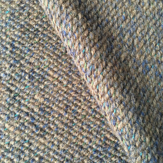 KF0095-5 Coarse Knit Wool Jacquard Fabric for Coat
