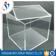 Wholesale Clear Solid Large Acrylic Storage Container With Lid