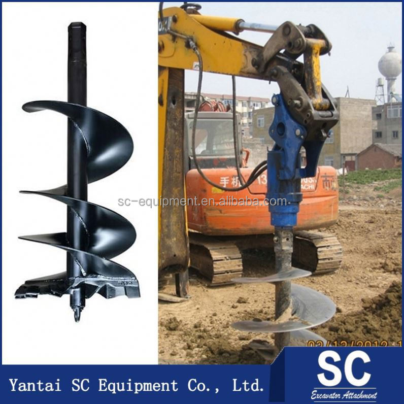 Earth Drill Hydraulic /Earth Auger For Skid Steer Loader SUMITOMO S160 For Tree Planting