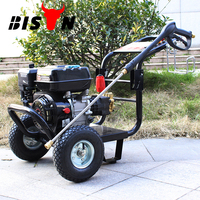 BISON China Hot Sale Electric High Pressure Washer 200Bar, Portable High Pressure Water Jet Cleaner, Petrol Pressure Washer