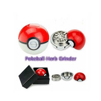 Pokemon Grinder for Spices, Herbs, Tobacco. 55mm 2.2inch Aluminum very hot salrs Pokeball grinder Pokemon Herb Grinder