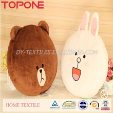 2014 Fashion Design Cute Character LINE Plush Emoji Cushions