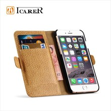 ICARER Wallet Leather Case For iPhone 6,Microfiber Leather Case For iPhone 6,2 In 1 Book Case Cover