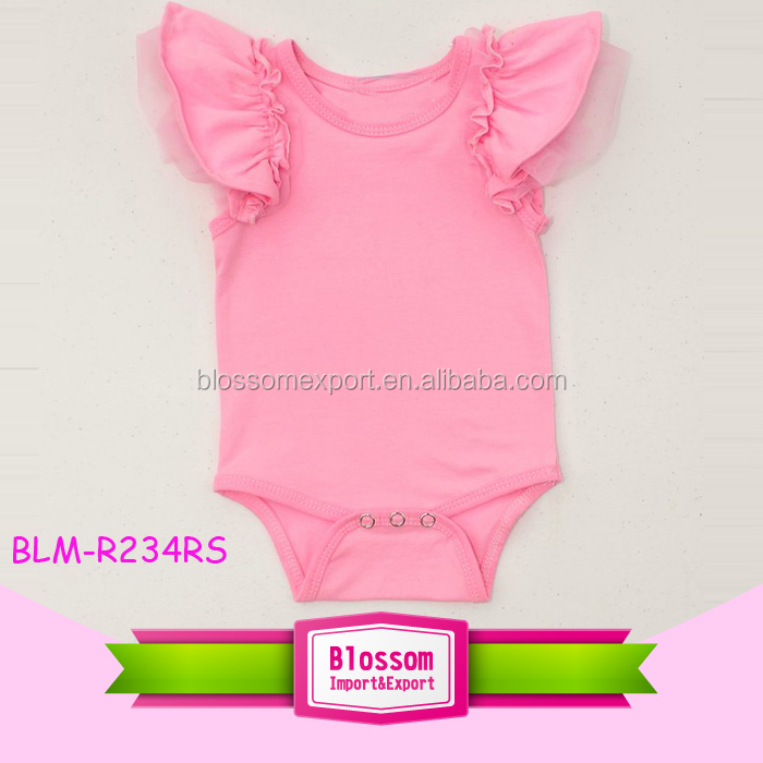 TAMIL GIRL BABY NAMES NEWBORN BABY CLOTHES ROMPER CUTE SOLID PINK FLUTTER SHORT SLEEVE BABY ONESIE ROMPER