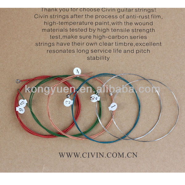 Colour Acoustic Guitar Strings/colored guitar strings