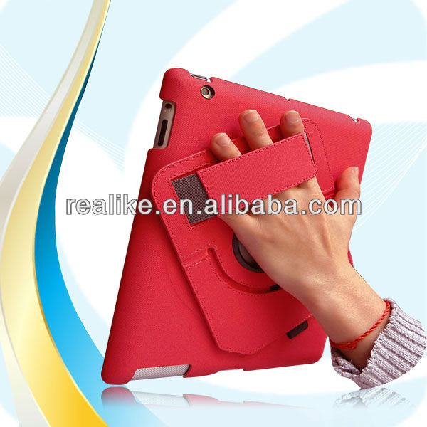 360 degree Hand Rotation Rubber Hard handheld Case For iPad Air/5,Special design professional
