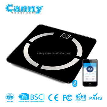 digital scale bluetooth with saft and round corner R20 glass