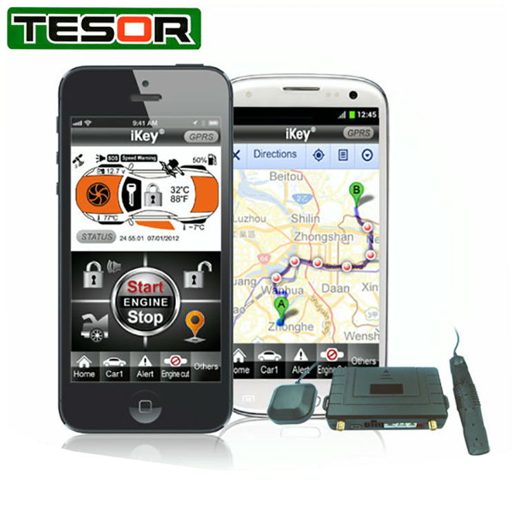 Smartphone Car Security Remote Control and GPS Tracking Device