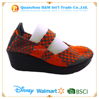 2016 latest women high heel woven shoes for sale