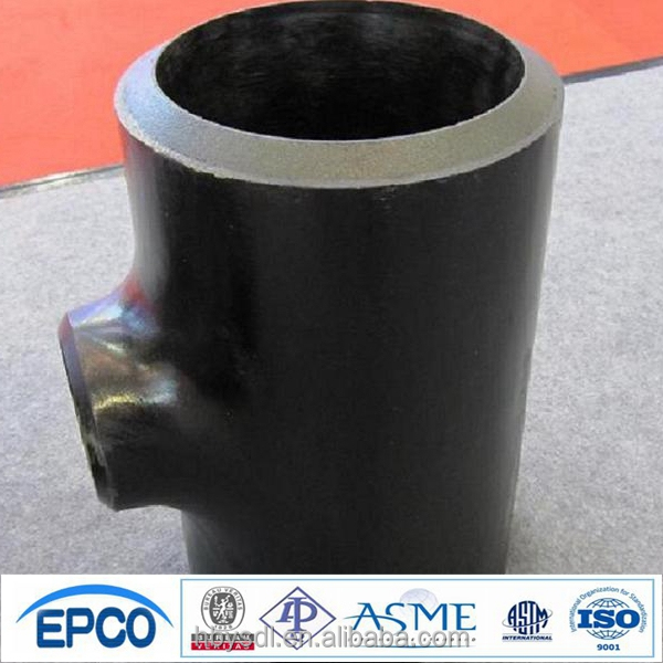 GOST 17375 cs reducing tee CT20 SCH 80 heavy thick beveled end