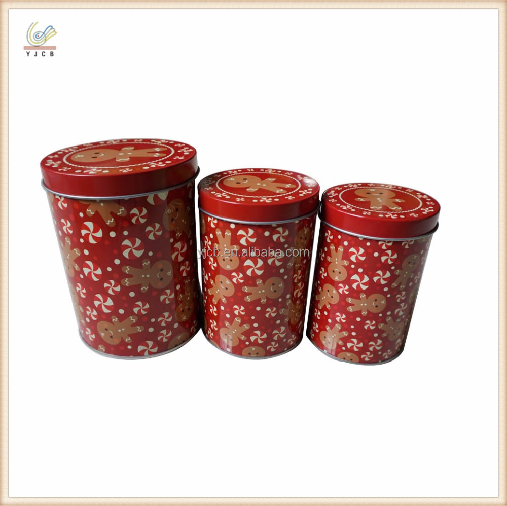 3 sizes cylinder tin box packaging gift tin