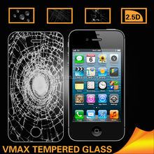Vmax Explosion Proof 2.5D 9H tempered glass screen protector for iphone 4 4s OEM/ODM (Glass Shield)