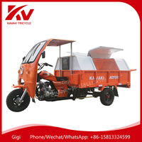 Guangzhou KAVAKI TRICYCLE/MOTOR supply 200cc water-cooled engine 3 wheel garbage truck/motorcycle