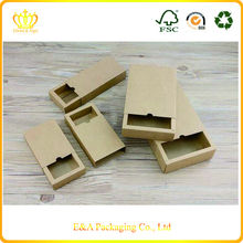 Custom made brown kraft paper cheap small gift boxes/small paper drawer style boxes