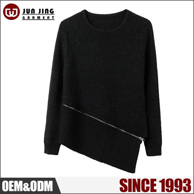 China new design ladies blouse fashion knitwear pullover Fall winter high fashion long sleeves long sweater women