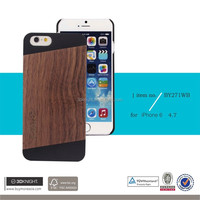 Real Walnut Wood Dark Brown Wooden For iPhone 6 Plus Case, Natural Bambu Wood Case for iPhone 6s Super Thin