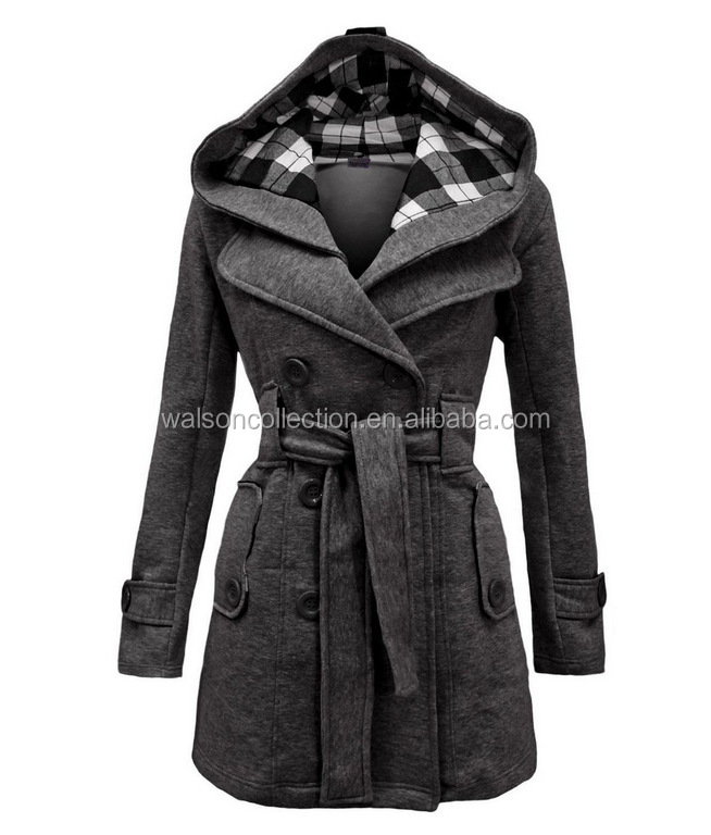 Women' Warm Winter Hooded Trench Coat Wool Blends Long Coats Winter Thick Jacket 6colors 3XL plus size clothing