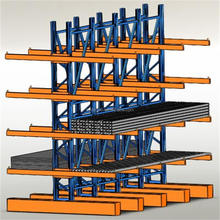warehouse steel heavy duty double side cantilever tubular storage rack