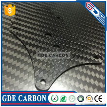 GDE premium custom made carbon fiber sheet/plate/panel cnc cutting services