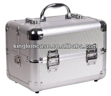 small silver aluminum portable beauty makeup vanity cases KL-H406