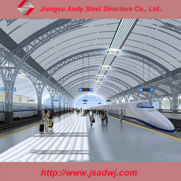 Light 50 Durable Years Prefabricated Bus/Train Station Steel Truss Design