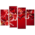 Vermeil Color Orchid Canvas Print Photos Contemporary Photography Giclee Artwork Wholesale Flower Canvas Painting of Chinese Red