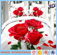 Canton fair polyester pigment printed bed sheet/mattress/quilt fabric textile for Arab market