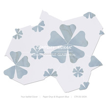 new design Home decoration marble waterjet mosaic tile Four-leafed Clover with high quality
