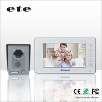 "ETE Smart home Aluminum alloy 7""tft-lcd 500tvline hand free video door phone talking video doorbell for villa / apartments"