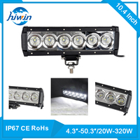 offroad atv tractor truck 60w sxs led light bars 5100lm 10.20inch