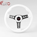 Ryanstar ABS 14inch 350mm Universal Racing White Steering Wheel