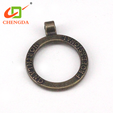 CHENGDA Wholesale Customized Long Chain Zipper Metal Slider Puller Tabs