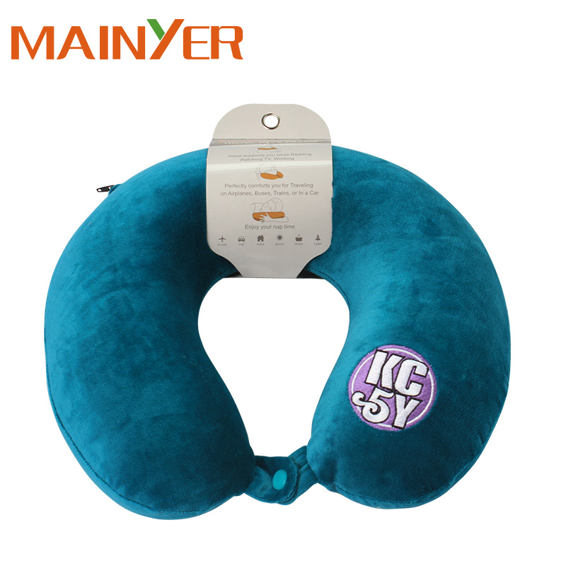 U Shape Neck Support Travel Pillow with Removable Covers