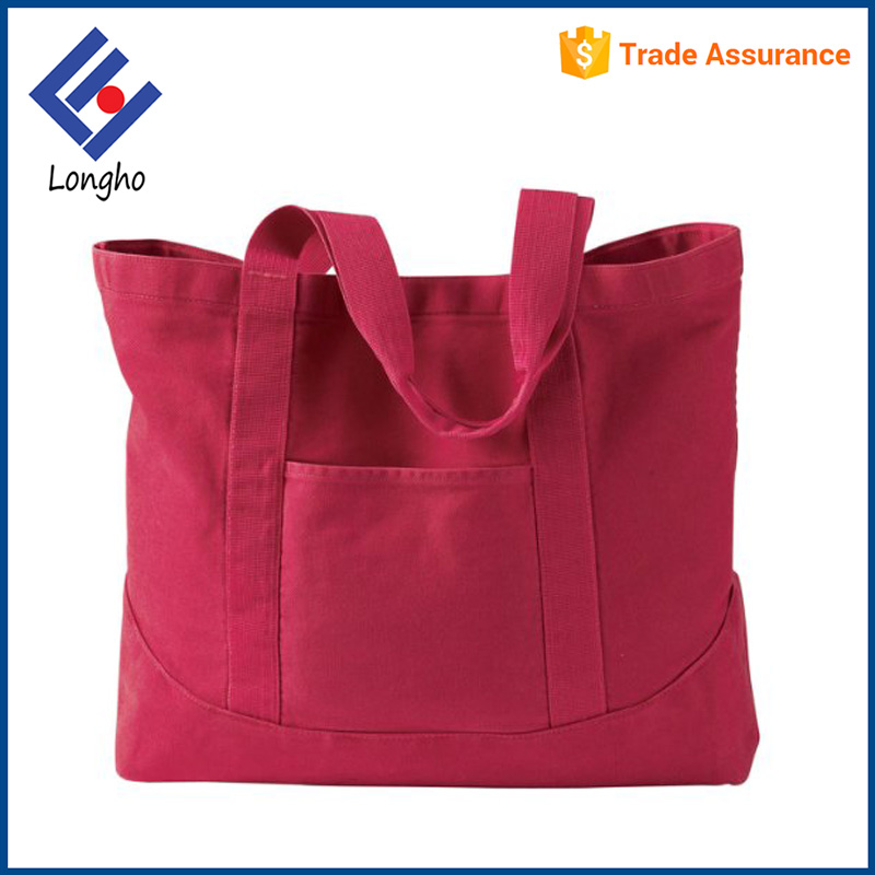 China supplier sturdy handle large cotton fabric shopping bags for goods storage
