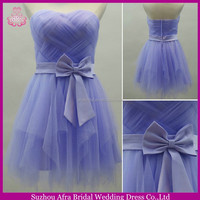 SW206 sweetheart cute tiered mini skirt bridesmaid dresses royal purple