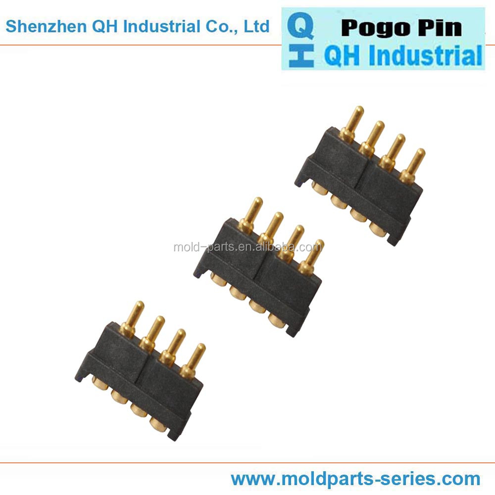 Mount USB Brass Copper Double Head 4 Pin Pogo Pin Connector