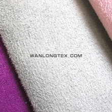 polyester suede fabric bonded artificial fur for garment