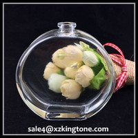 100ml round shaped brand name glass perfume bottles
