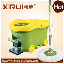 360 degree easy rotating magic clean floor mop stick with bucket(XR31)