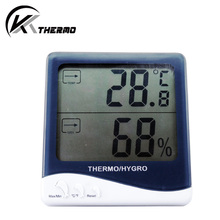 digital LCD household indoor & outdoor temperature measuring thermometer room hygrometer