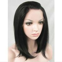 Cheap Price new style Natural Black Synthetic Lace Front Wig