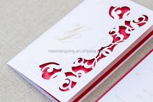 2016 fancy Laser Cut Love Swirl Wedding Invitation, chic invitations