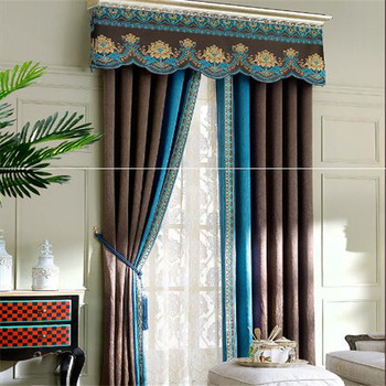 Elegant Linen Fabric Curtains Church Curtains And Curtain Rods In China