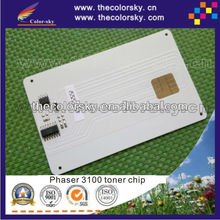 (CZ-X3100) compatible reset laser printer toner card chip for Xerox phaser 3100 106R01378 106R01379 CWAA 0758 simcard bk 2.2k/4k