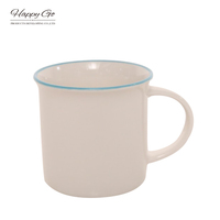 HG93-97 top rated custom new bone china ceramic milk emaille cup wholesale promotional enamel mug