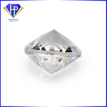 Factory Wholesale Loose 6mm White cz Special Round double side cut facets Cubic Zirconia gemstone