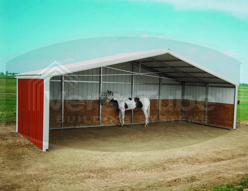 Horse Shelters Metal : Prefab metal horse barn animal shed shelter buy