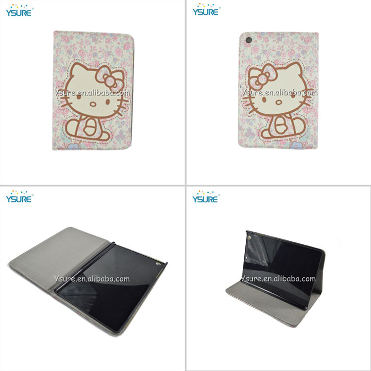 Cute PU leather Cover for Hello Kitty iPad Mini Case