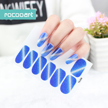 Ys031~Ys043 Non-Toxic Self-Adhesive Nail Art Stickers Decor Full Nail Foil Wraps Decal DIY Decorations Glitter Nail Tip Sticker